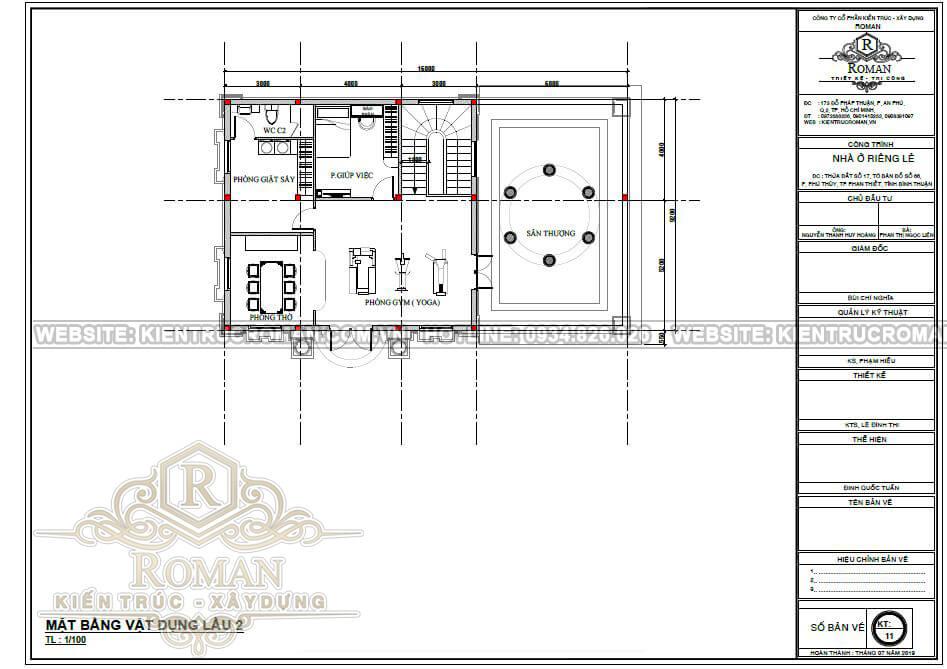 biệt thự 3 tầng 9x16