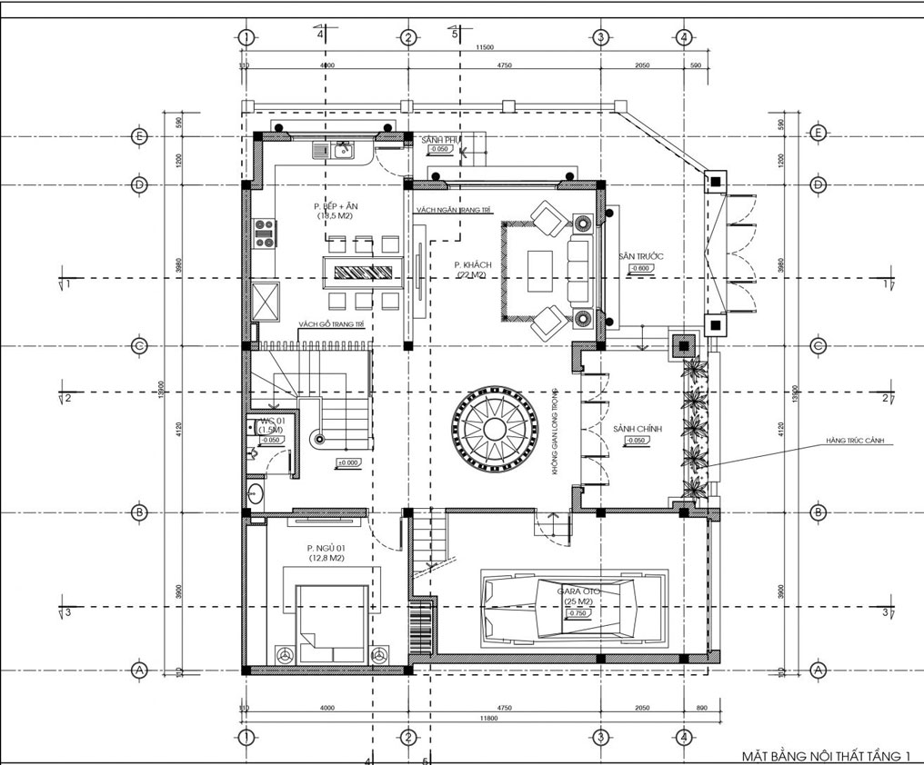 biệt thự 3 tầng bán cổ điển đẹp 11x14m 3
