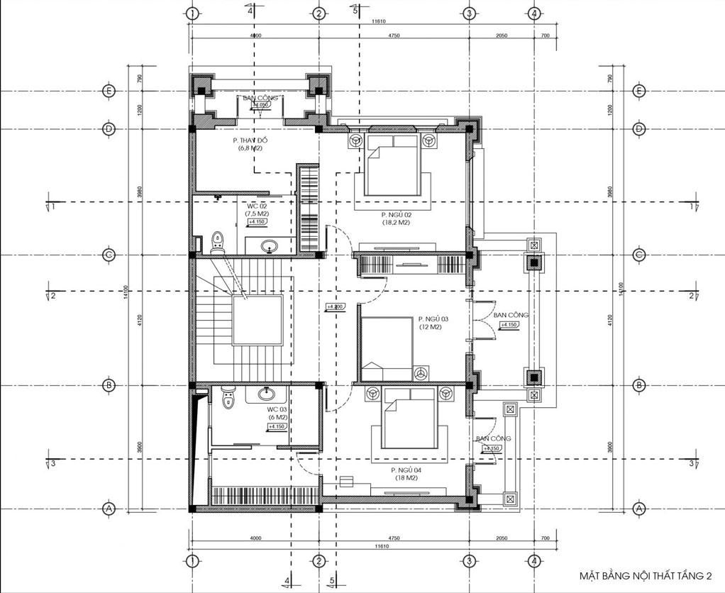 biệt thự 3 tầng bán cổ điển đẹp 11x14m 4
