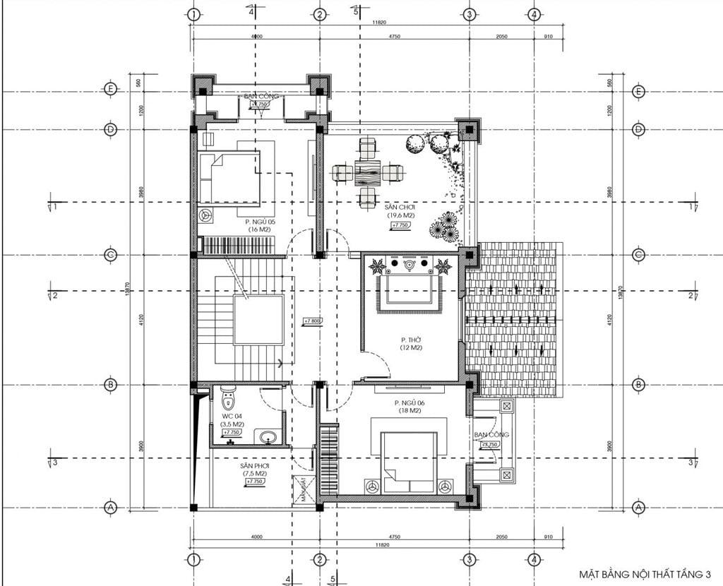 biệt thự 3 tầng bán cổ điển đẹp 11x14m 5