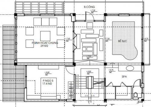 biệt thự 3 tầng chữ L tân cổ điển đẹp 7