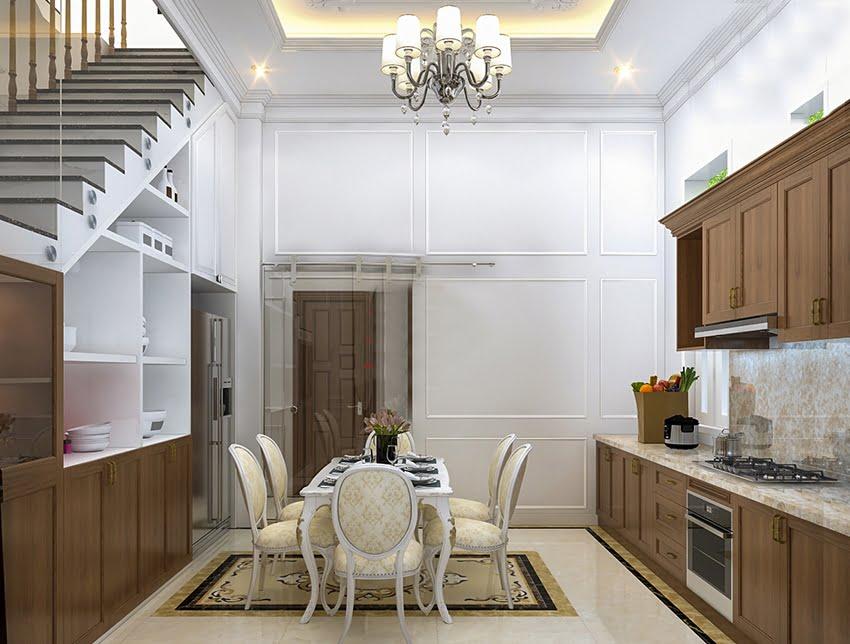 biệt thự 3 tầng có 5 phòng ngủ phòng bếp