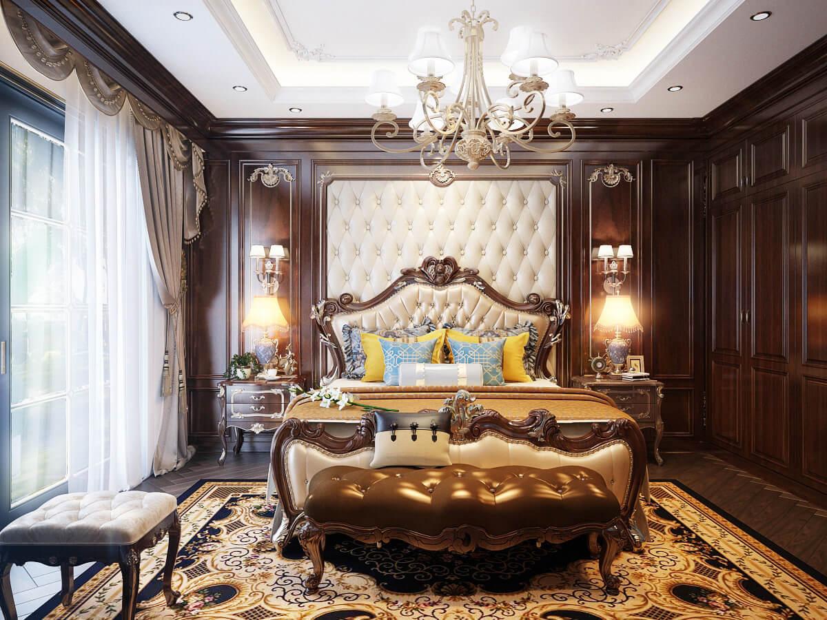 biệt thự 3 tầng cổ điển phòng ngủ master