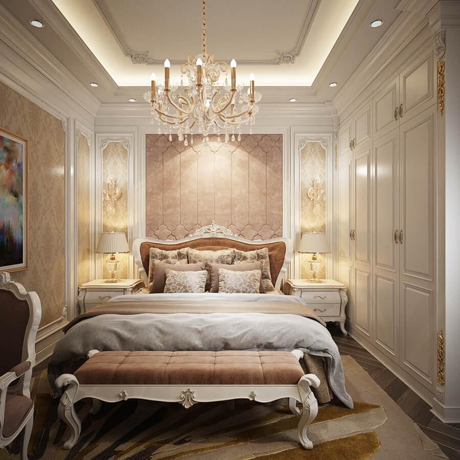 biệt thự 3 tầng cổ điển phòng ngủ