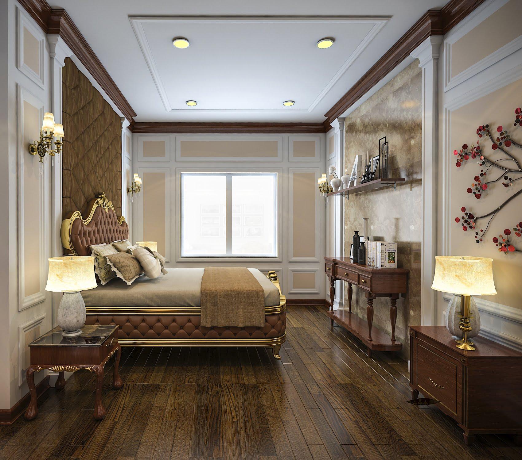 biệt thự mặt tiền 13m 3 tầng cổ điển đẹp 8