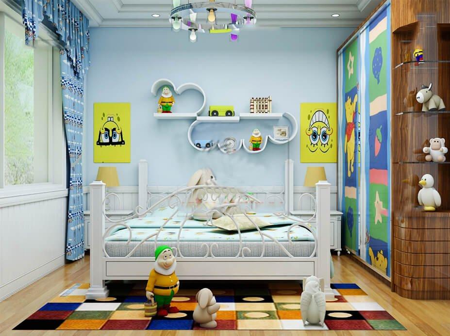 biệt thự 3 tầng có phòng giải trí phòng trẻ em