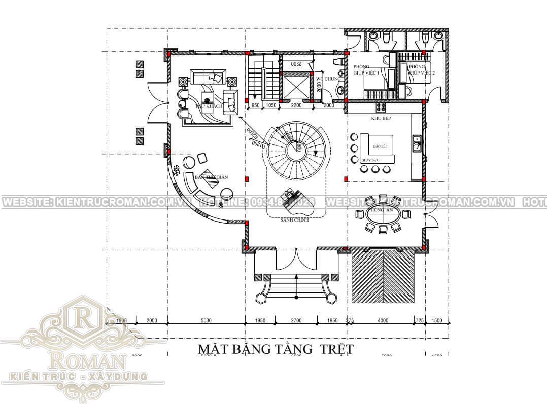 biệt thự 3 tầng có tầng hầm