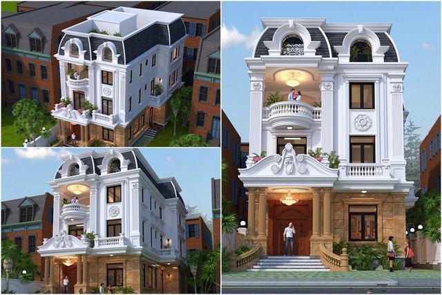 biệt thự đẹp 3 tầng cổ điển 9x14m 1