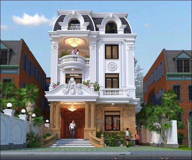 biệt thự đẹp 3 tầng cổ điển 9x14m 2