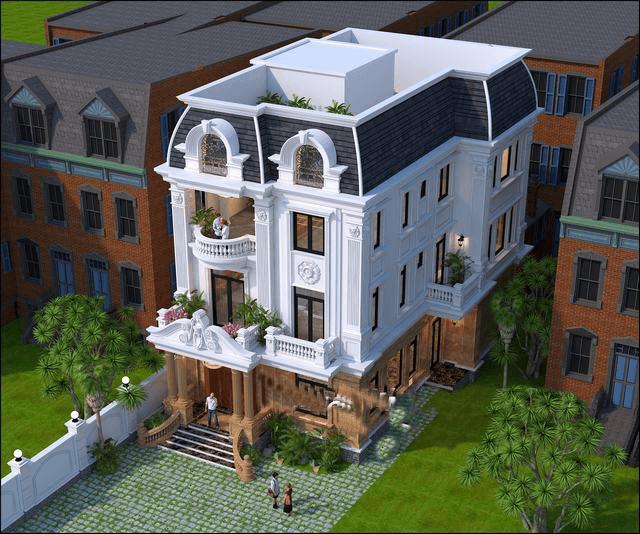 biệt thự đẹp 3 tầng cổ điển 9x14m 3