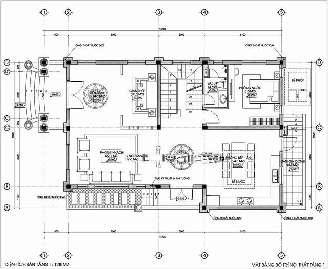 biệt thự đẹp 3 tầng cổ điển 9x14m 4