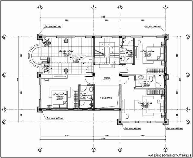 biệt thự đẹp 3 tầng cổ điển 9x14m 6