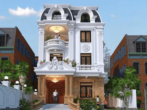 biệt thự 3 tầng đẹp cổ điển