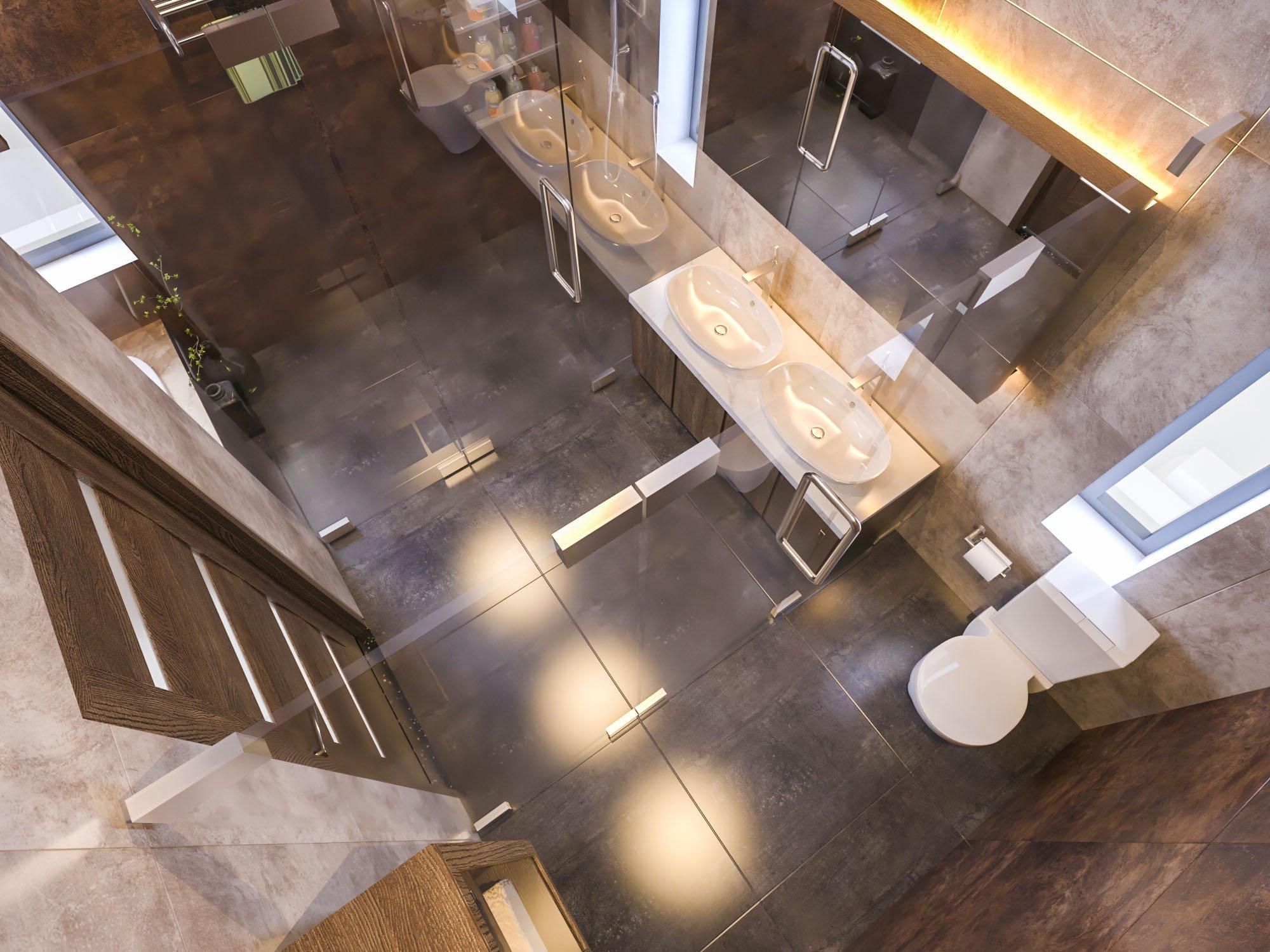 biệt thự 3 tầng có gara hiện đại đẹp 18