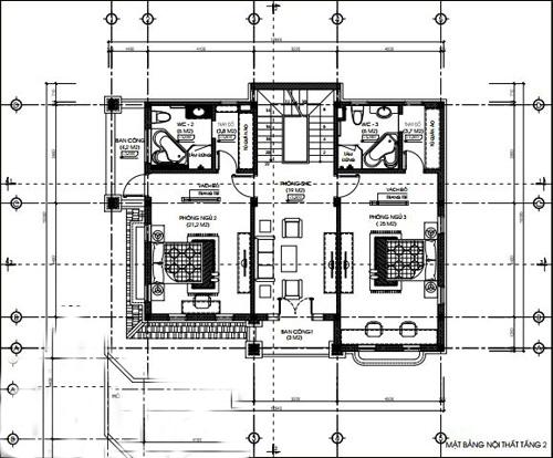 biệt thự 3 tầng có gara hiện đại đẹp 4