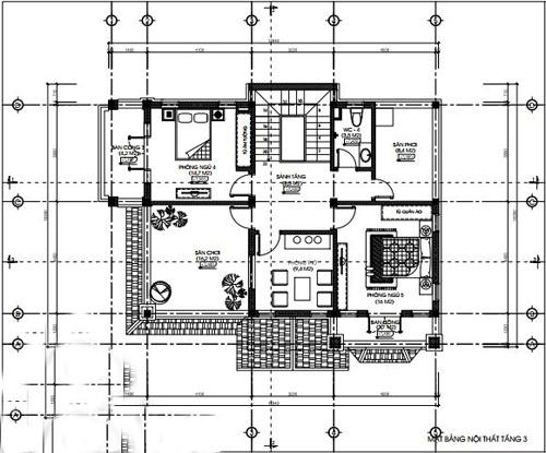biệt thự 3 tầng có gara hiện đại đẹp 5