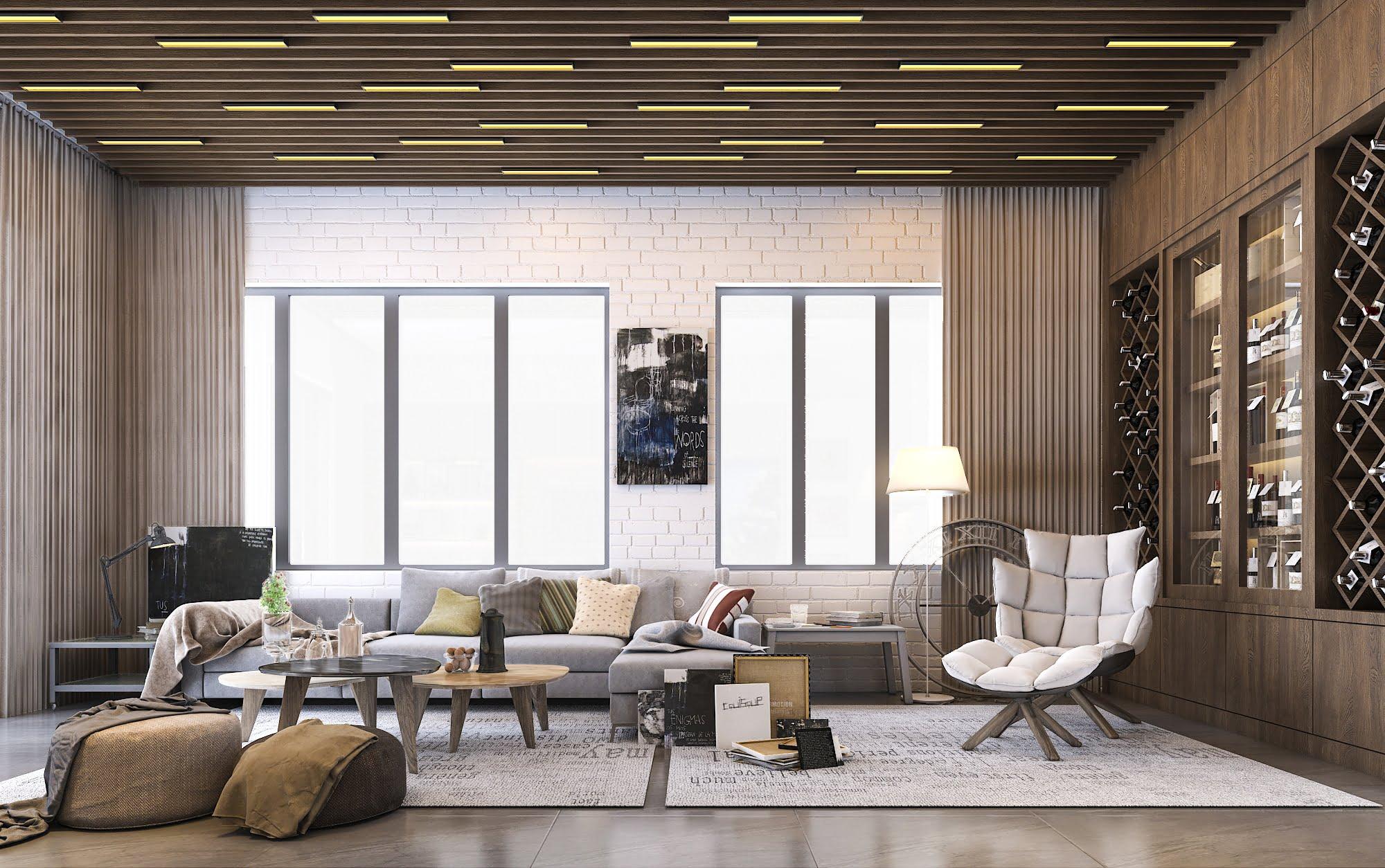 biệt thự 3 tầng có gara hiện đại đẹp 7