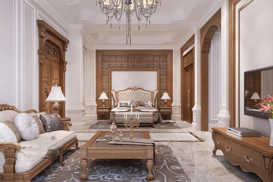 biệt thự 3 tầng kiểu pháp phòng ngủ master