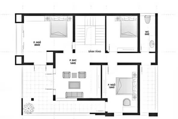 biệt thự 3 tầng kiểu pháp
