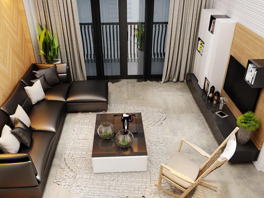 biệt thự mái thái 3 tầng phòng sinh hoạt chung