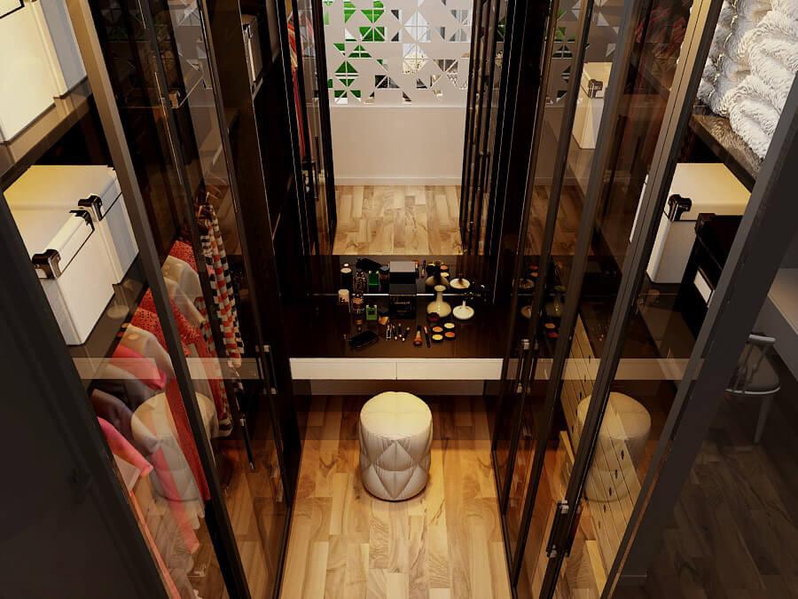 biệt thự mái thái 3 tầng phòng thay đồ