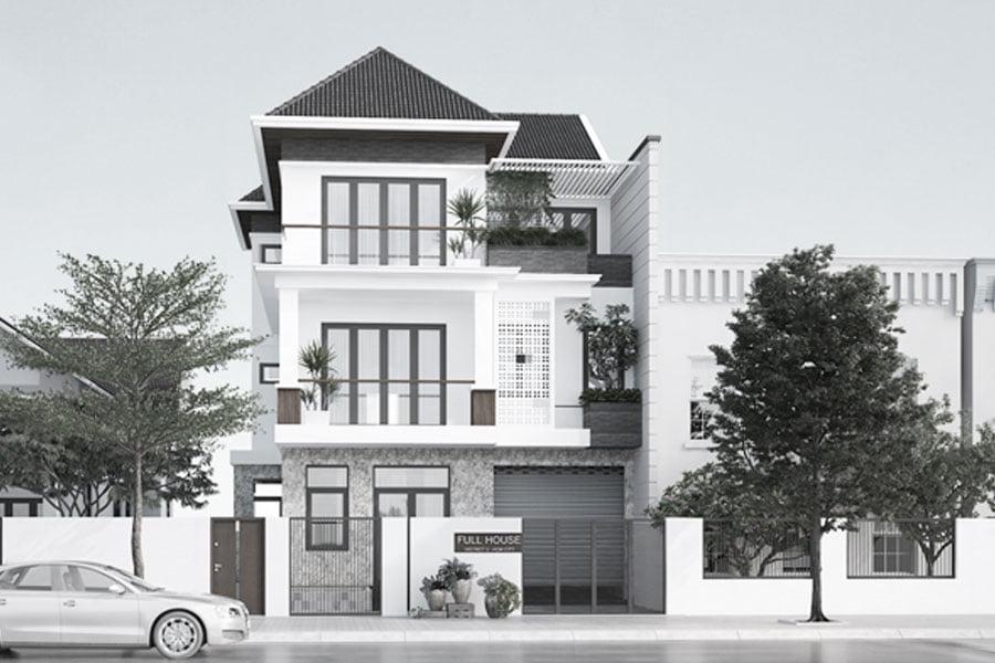 Mẫu biệt thự 3 tầng mái thái sang trọng 3