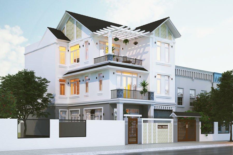 Mẫu biệt thự 3 tầng mái thái sang trọng 4