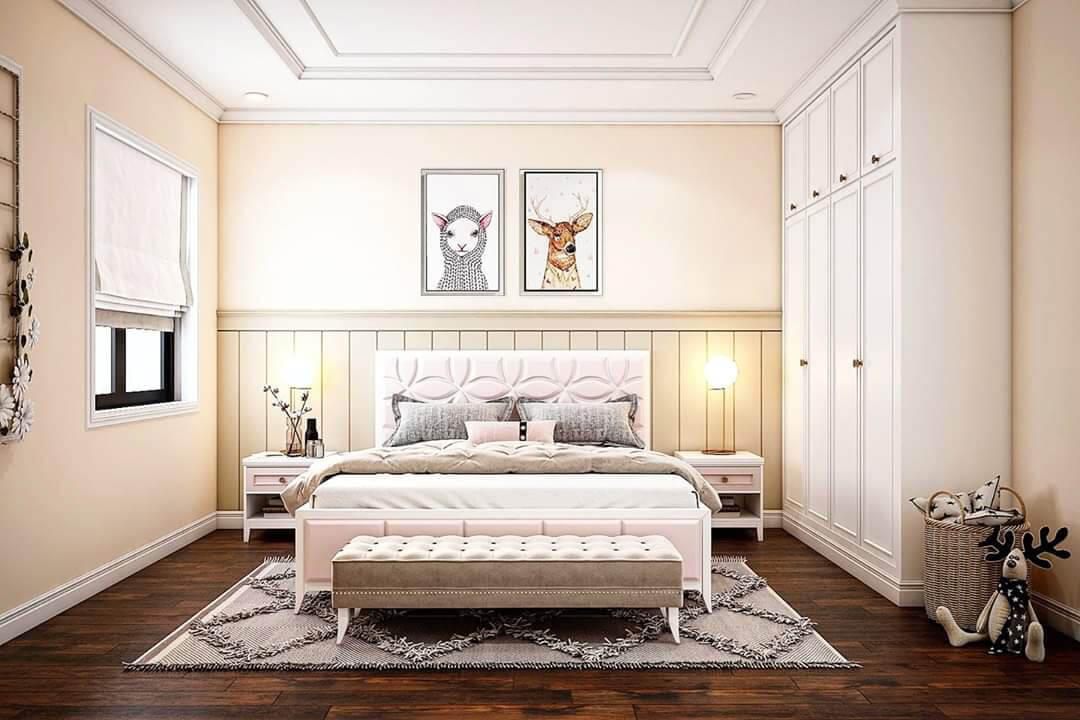 biệt thự 3 tầng mái thái hiện đại phòng ngủ