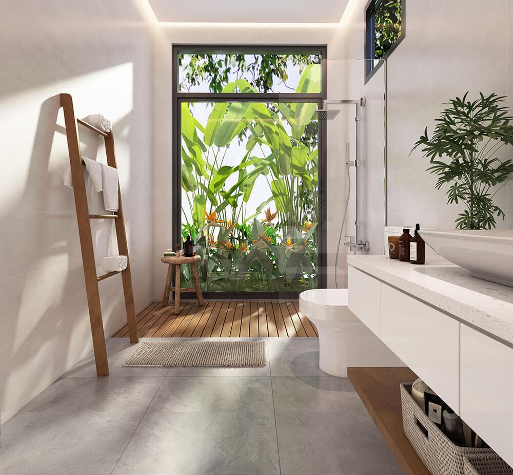 biệt thự 3 tầng mái thái hiện đại phòng tắm