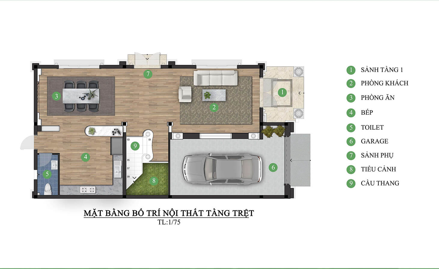 biệt thự 3 tầng mái thái hiện đại