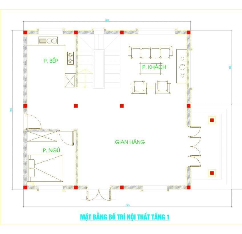 biệt thự 3 tầng mặt tiền 8m