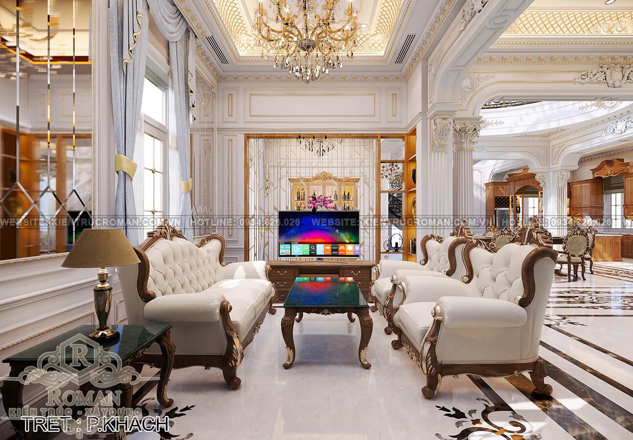biệt thự 4 mặt tiền phòng khách