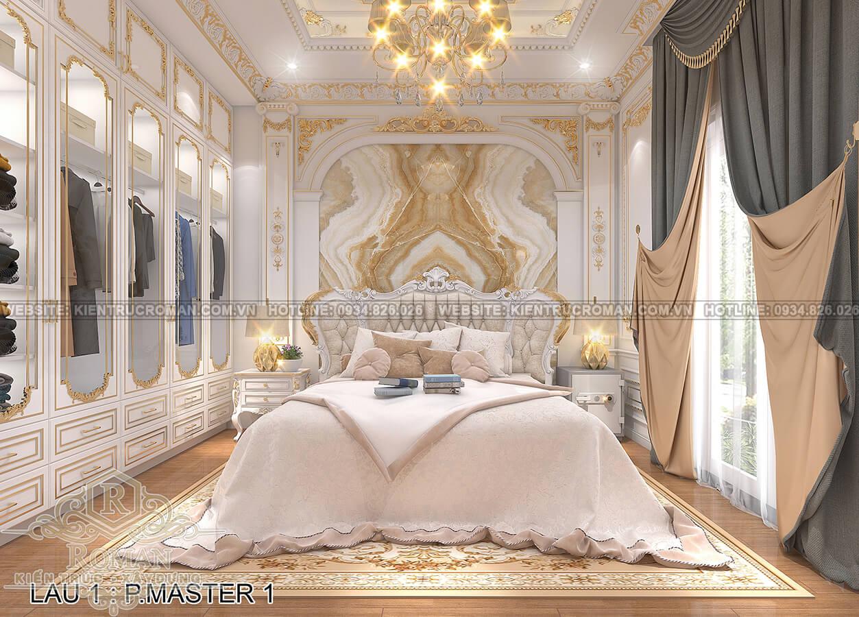 biệt thự 4 mặt tiền phòng ngủ