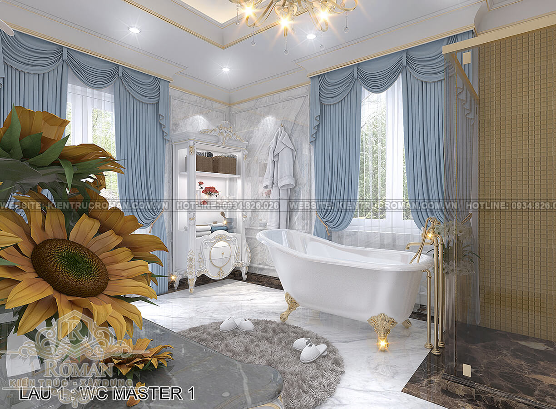 biệt thự 4 mặt tiền phòng tắm master