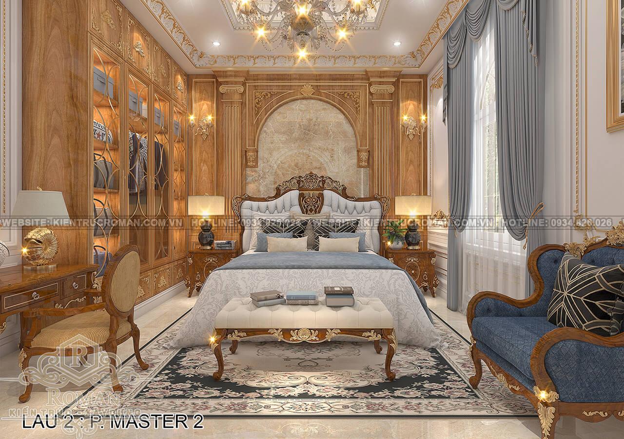 biệt thự 4 mặt tiền phòng ngủ master