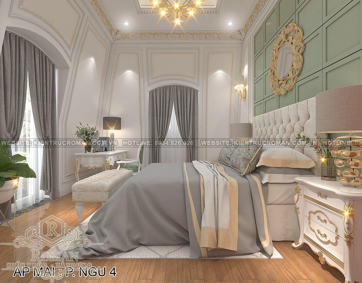 biệt thự 4 mặt tiền phòng ngủ 4