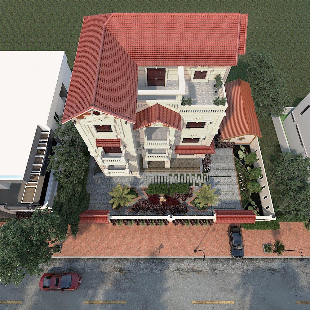 biệt thự 4 tầng 11x13m tân cổ điển đẹp 4