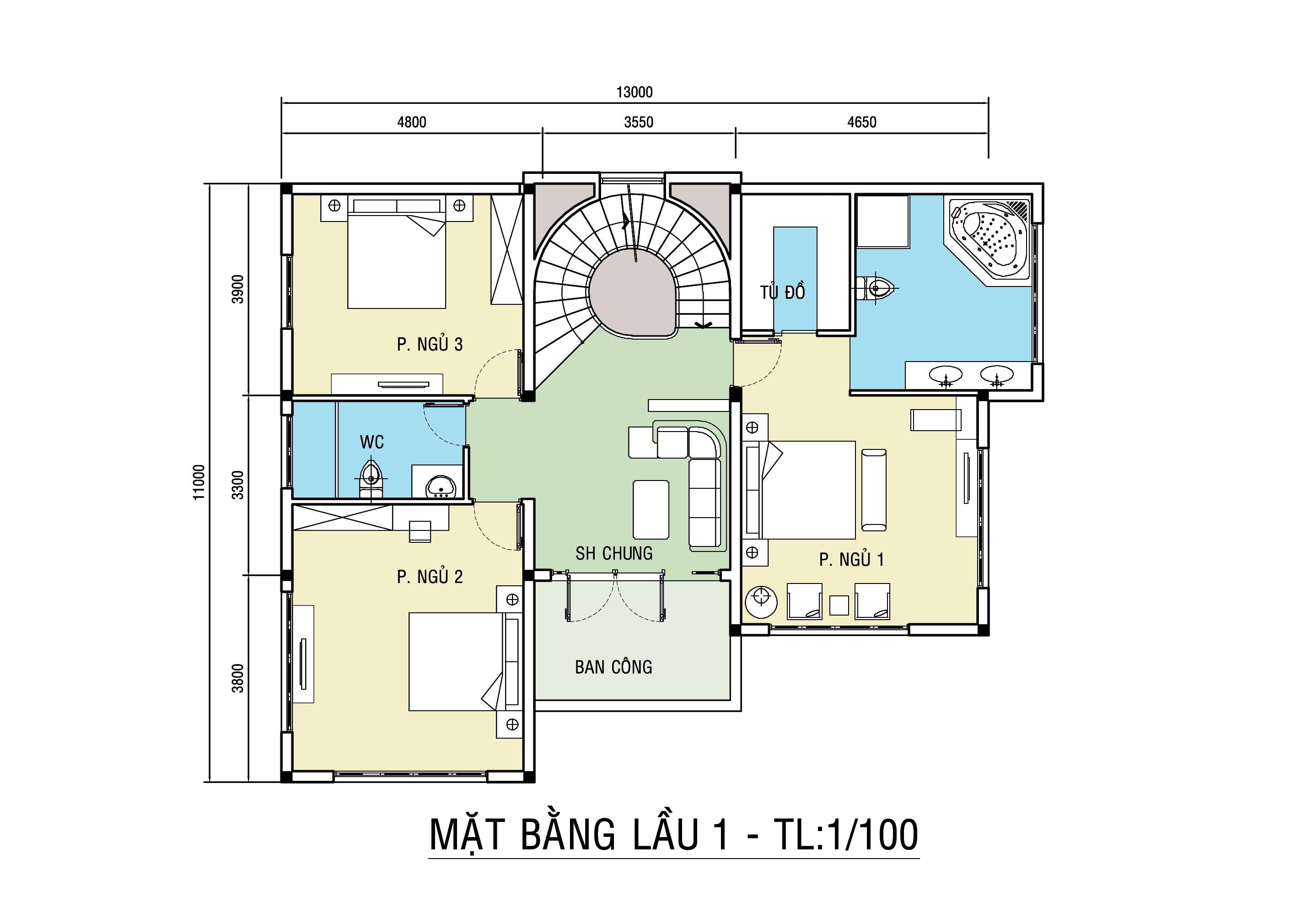 biệt thự 4 tầng 11x13m tân cổ điển đẹp 6