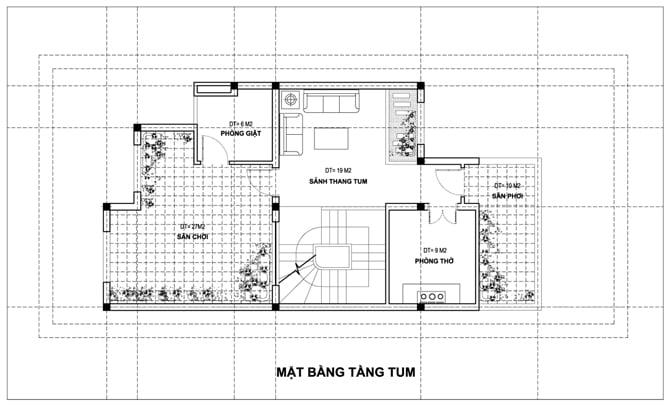 biệt thự 4 tầng hiện đại