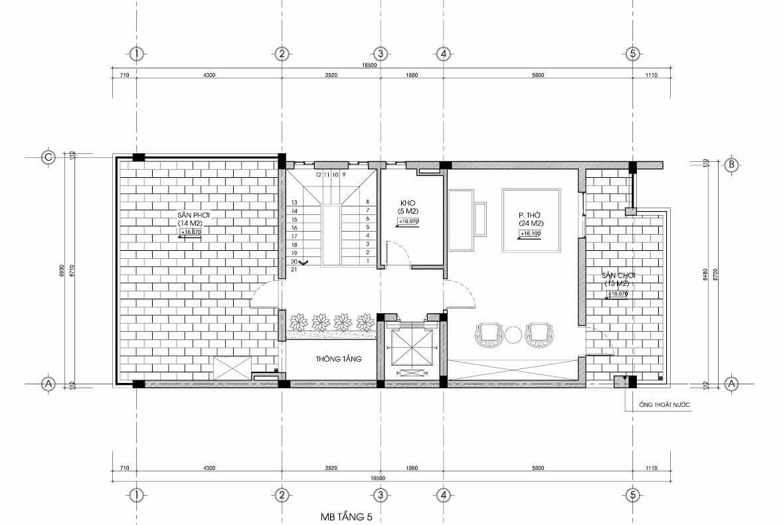 biệt thự 4 tầng hiện đại 7x15m