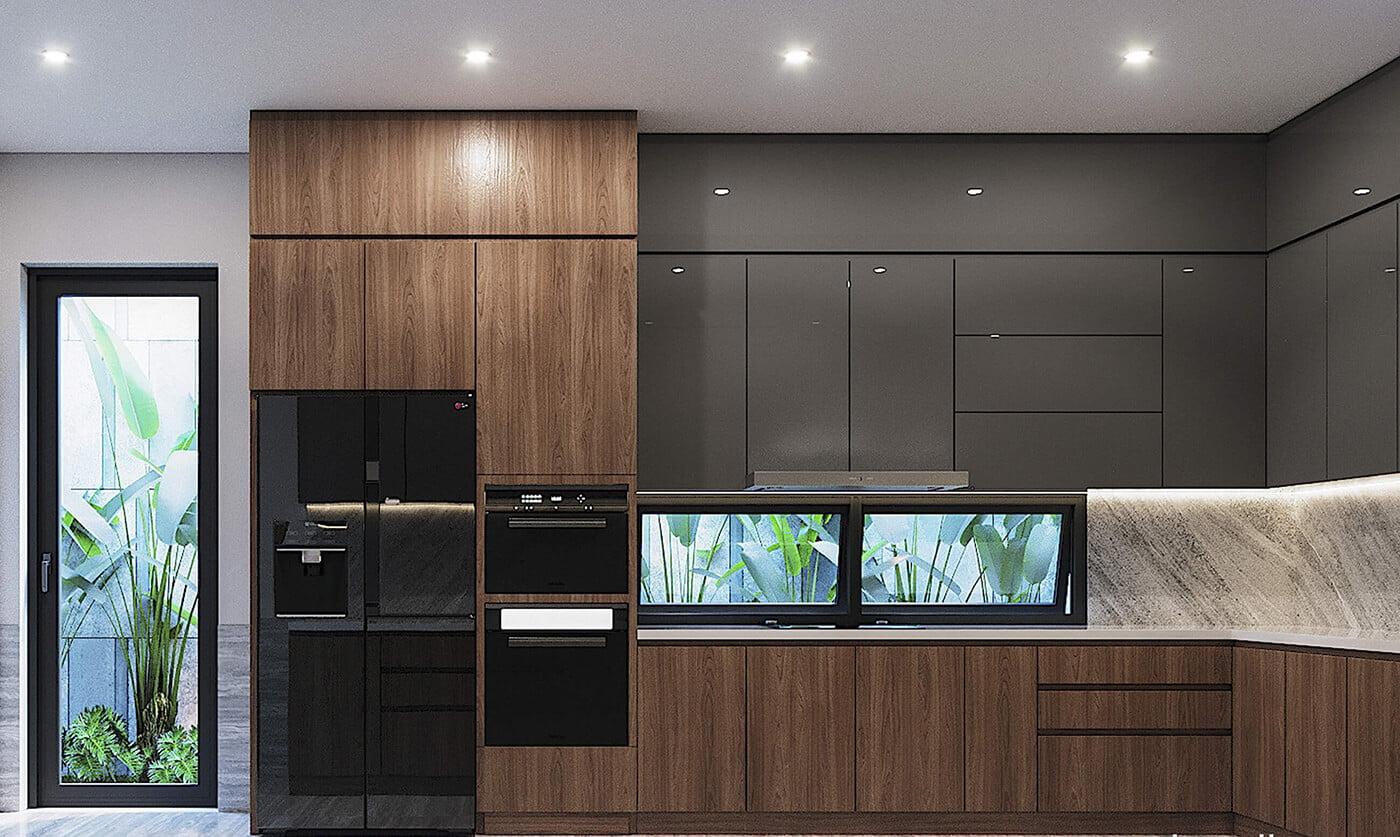 biệt thự 4 tầng hiện đại 7x15m nhà bếp