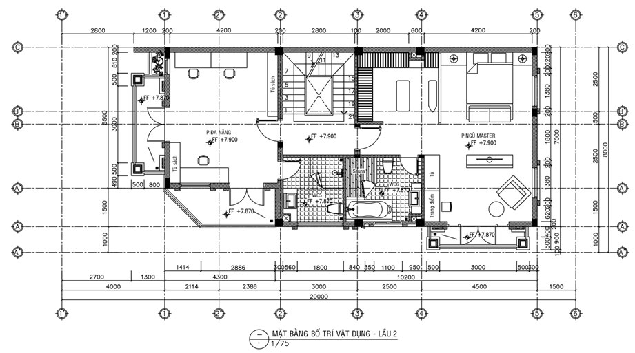 biệt thự 4 tầng tân cổ điển 7 tỷ