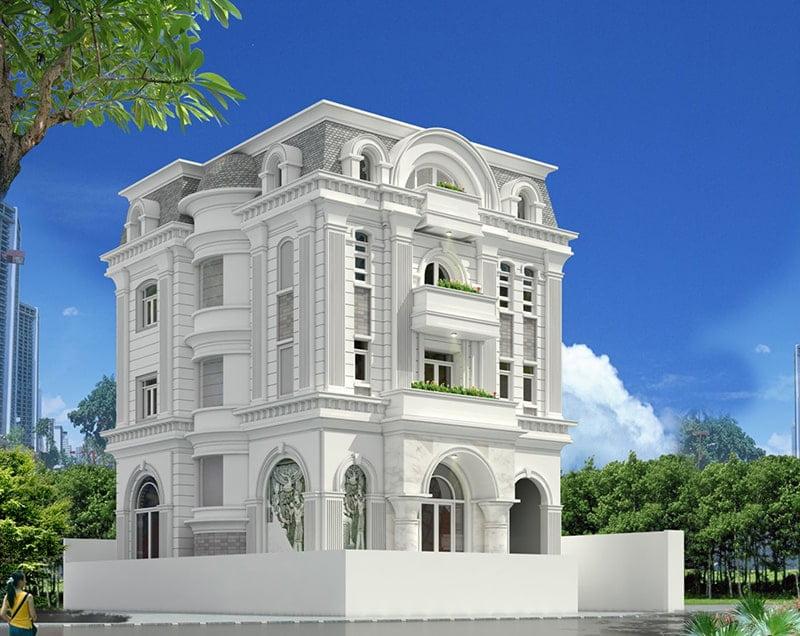 biệt thự 4 tầng tân cổ điển đẹp 4