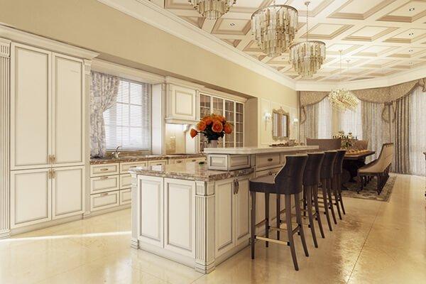 biệt thự 5 tầng kiểu pháp phòng bếp