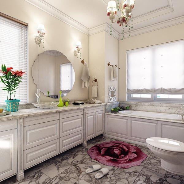 biệt thự 5 tầng kiểu pháp phòng tắm