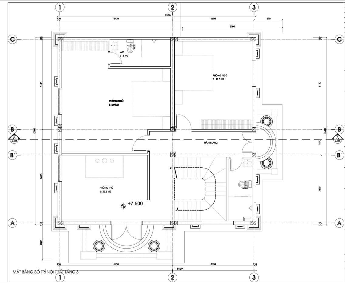 biệt thự 5 tầng kiểu pháp