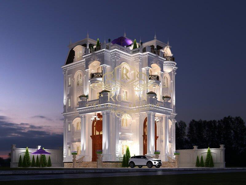 biệt thự 5 tầng tân cổ điển