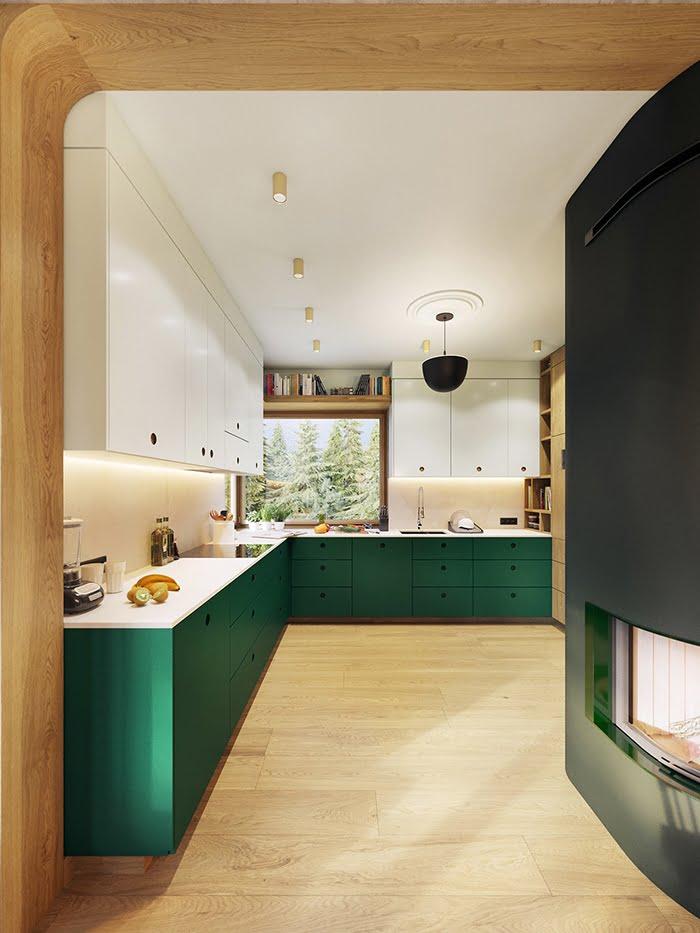 biệt thự cho thuê 11x25m phòng bếp