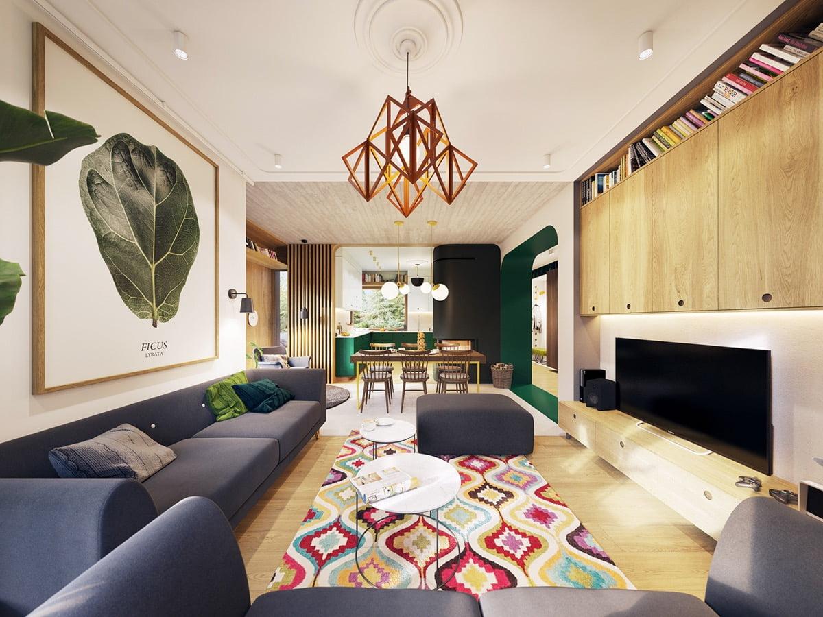 biệt thự cho thuê 11x25m phòng khách