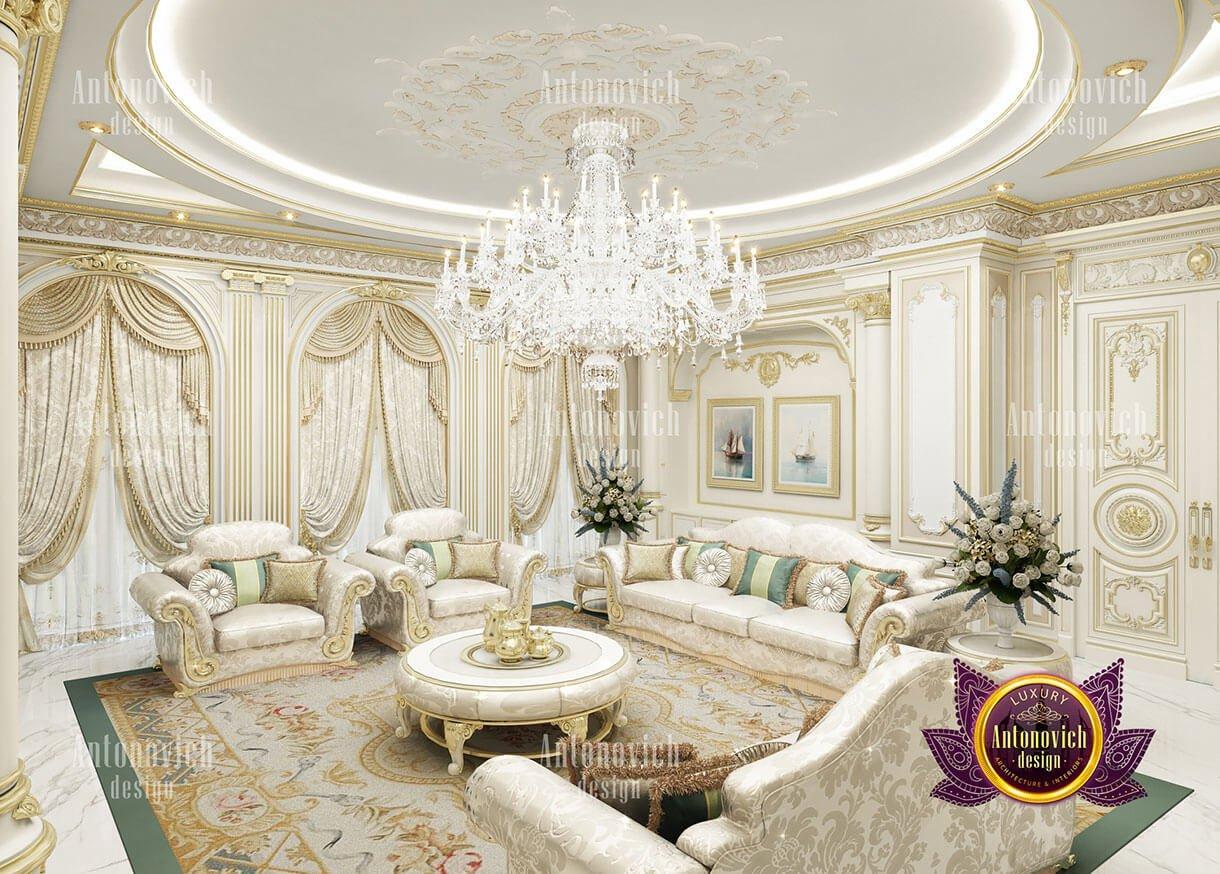 biệt thự cổ điển 10x18m phòng khách nhỏ